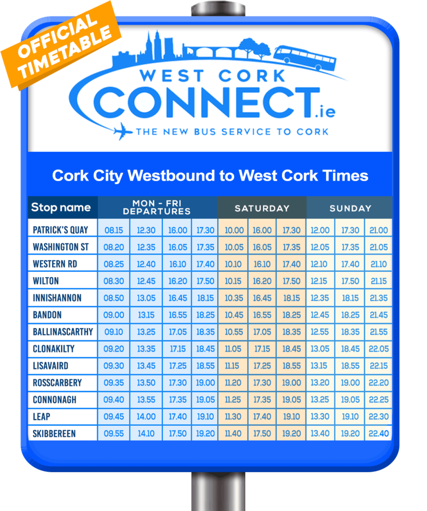 Bus from Cork City to West Cork - West Cork Connect